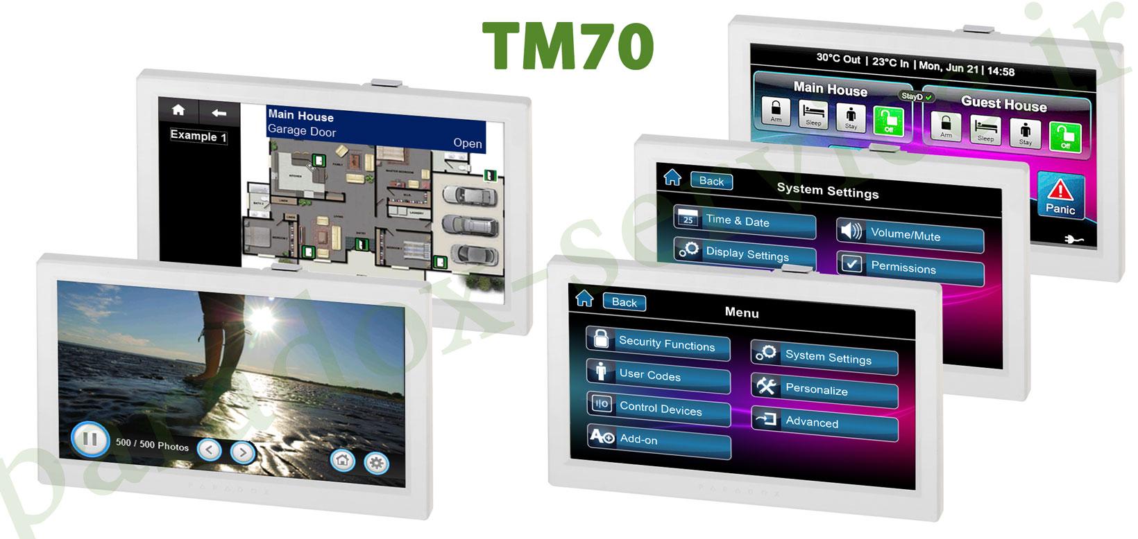 کیپد تاچ اسکرین tm70 دزدگیر شرکت پارادوکس کانادا paradox کیپد تاچ اسکرین TM70 دزدگیر شرکت پارادوکس کانادا Paradox TM70 baner Install